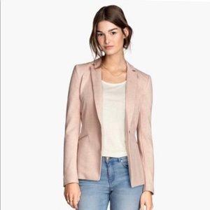 H&M Pink Blush Jersey Blazer Size 2
